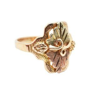 Jewelry - 14K COLORED GOLD W/ VINE AND LEAF PINKIE RING